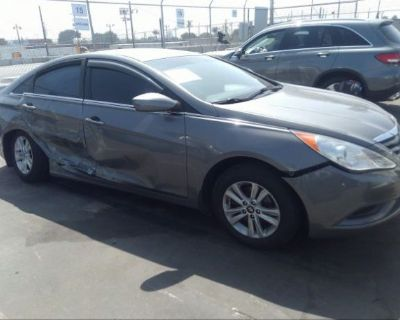 Salvage Gray 2013 Hyundai Sonata