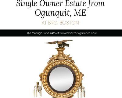 SINGLE OWNER ESTATE FROM OGUNQUIT, ME AT BRG-BOSTON