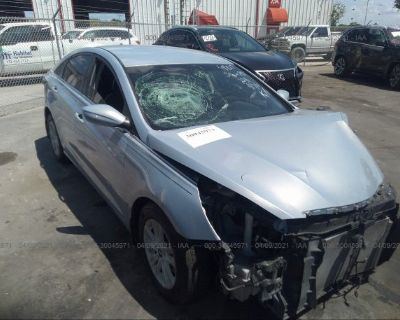 Salvage Blue 2012 Hyundai Sonata