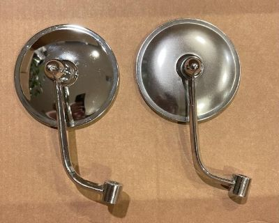 Early Round Side View Mirrors Right Side Only New