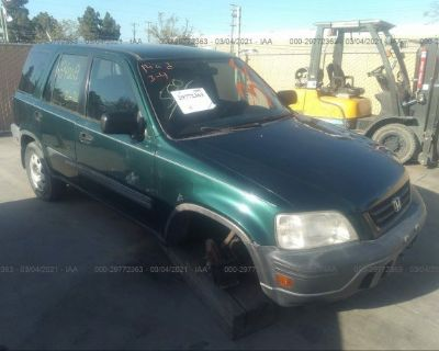 Salvage Green 2000 Honda Cr-v