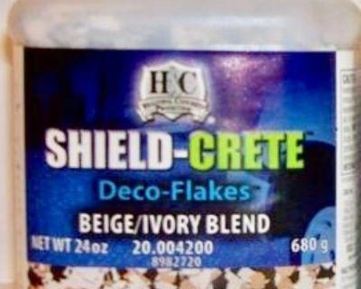 New - (6) Quarts of Sherwin-Williams - H&C SHIELD-CRETE Deco-Flakes