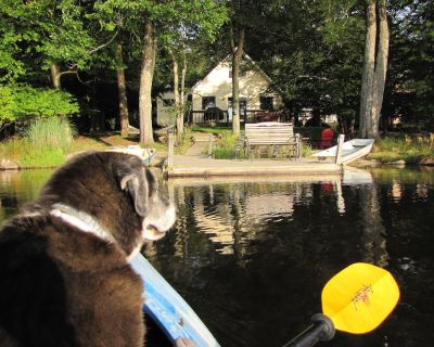 Lakefront Cabin w/ Private Beach, Dock, AC, 4 Boats, Sauna, Dog Friendly!!! - Pocono Country Place