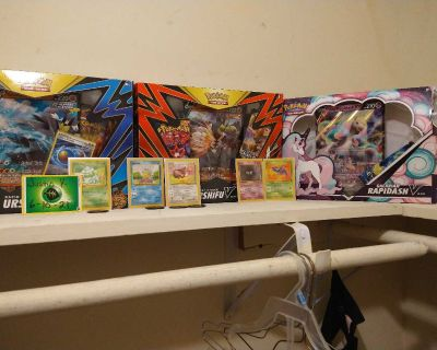 Pokemon cards and Jumbo pokemon cards and code cards for online play