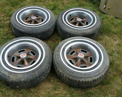 14 X 6 Pontiac Rally II WHEELS RIMS TIRES Km Code Firebird Grand Prix 455 400