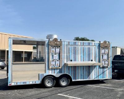 2018 Wow Cargo 8.5' x 20' Lightly Used Kitchen Concession Trailer with Porch