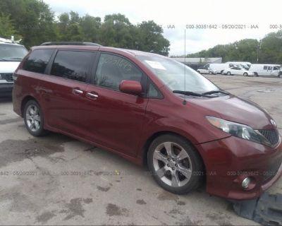Salvage Red 2013 Toyota Sienna