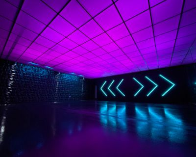 Color Changing Ceiling with High Gloss Floor Film/Photo/Dance Studio, Fremont, CA