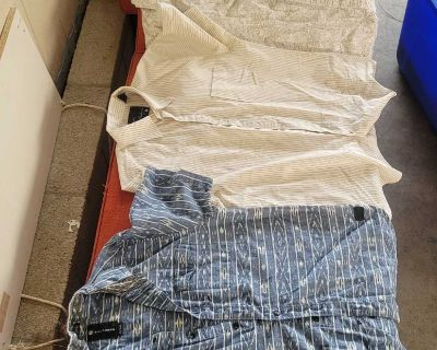 SIZE LARGE SHIRTS IN EXCELLENT CONDITION LOCATED IN WILDOMAR BUT WILLING TO MEET IN MENIFEE XPOST