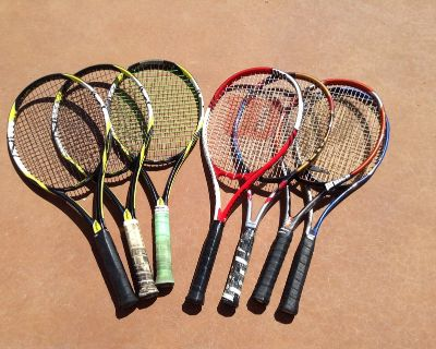 Tennis rackets - professional by Wilson, and Head