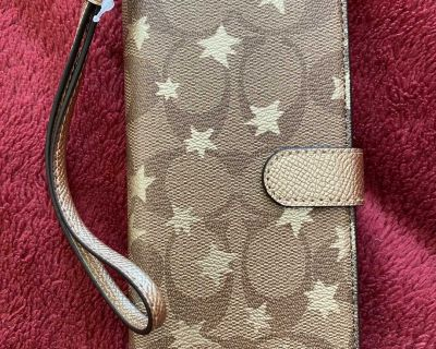 Iphone X/Xs Folio In Signature Canvas With Pop Star Print
