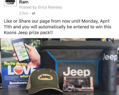 Like and Win with Koons Jeep!!