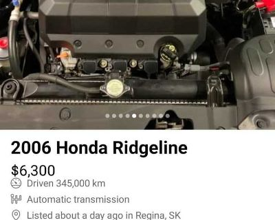 Im looking honda ridgeline engine top cover