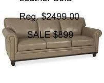 """Martha Stewart Bradyn 89"""" Leather Sofa Reg. $2499. - Outlet price $899"""