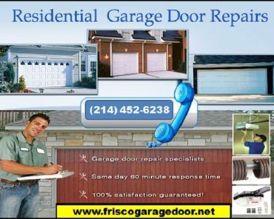 Immediately Response on Garage Door Opener Repair and Installation ($25.95)   75034, TX