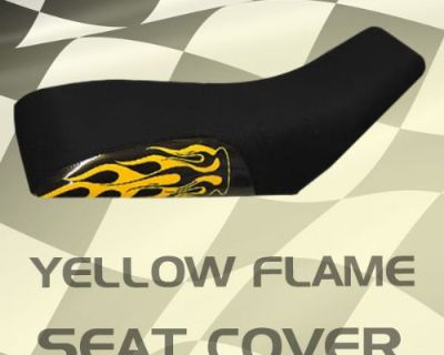 Yamaha Tri Z Ytz 250 85-86 Yellow Flame Seat Cover #klw16298 Nsm8308