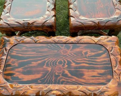 Hand made coffee table and side tables