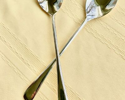 Vintage Italian Silver Plated Fork & Spoon Salad Serving Set