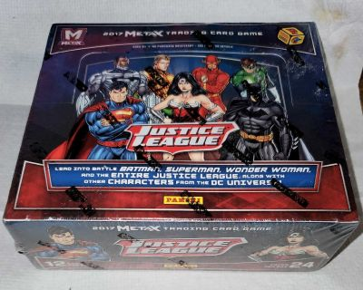Justice League Unopened Case of 24 Sealed Booster Packs Meta X Panini Trading Cards &