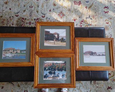 Four seasons of Lake Geneva framed