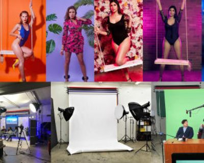 Studio With Swing, Lights, Backdrops, Props, Flats, Fog machine and more, Panorama city, CA