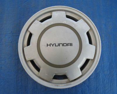 "1 Used 1988 Hyundai Excel 13"" Hubcap 5296021105 Oem Wheel Cover 55508 Si1"