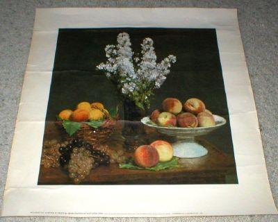 Flowers & Fruits Art Print (Bouquet Du Julienne Et Fruits) by Henri Fantin-Latour