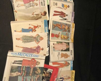13 Vintage sewing patterns from the 70s and early 80s