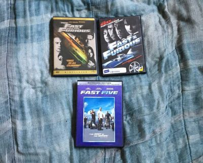 Lot Of 3 Fast & Furious DVDs