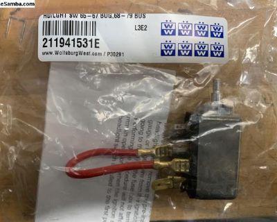 Brand new 65-67 Bug headlight switch