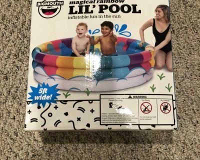 Kids inflatable pool never opened