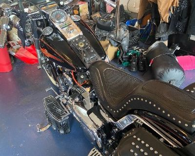 Estate sale with Collectables and Harley Davidson