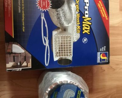 Pro Max Dryer Vent Kit with extra foil ducting