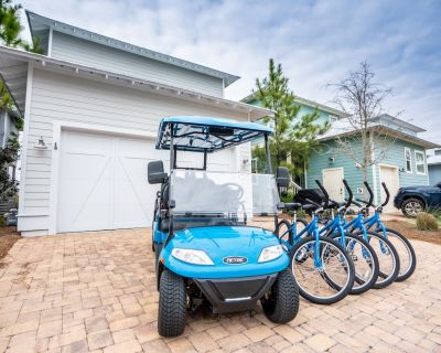 NEW 6-Seater Golf Cart! 4 Bikes! Short Walk to the Pool! - Nothing But Blue Skies at NatureWalk 30A - Seagrove Beach