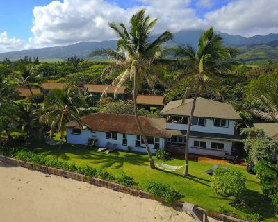 Breathtaking views at the private direct Beach/ocean front Pineapple Pad 30 nts - Mokuleia