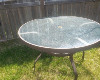Patio round table only.