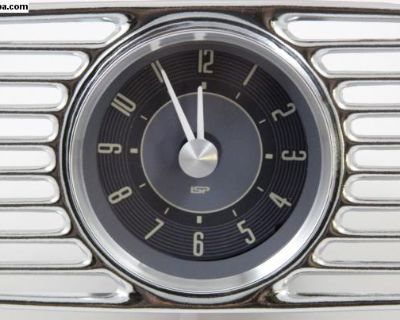 Zwitter & Oval 1953-1957 Dash Clock with Grill