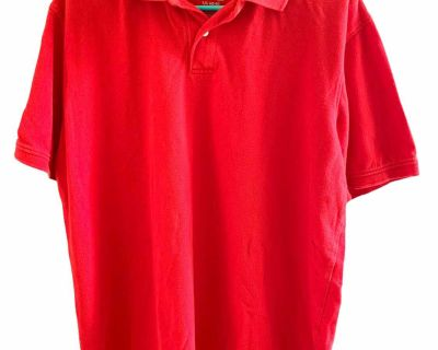 Men s red faded glory polo shirt