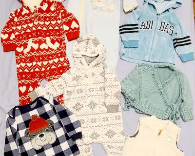 Baby boy winter clothes lot 6-12 months (7 items)