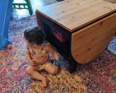 Ikea coffee table, child not included