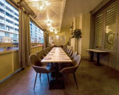 Modern Downtown Restaurant with Private Dining Rooms & Patios, Los Angeles, CA
