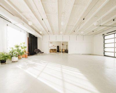 Bright White Creative Studio with Industrial Vibe, Ann Arbor, MI