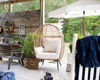 Glamping cute tiny cottage with huge outside area to hang out by the fire pit - Swansboro