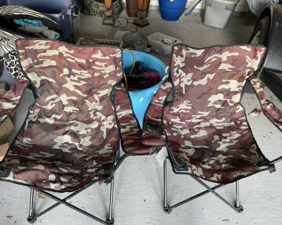 Camouflage chairs, set of 2 for $10.00