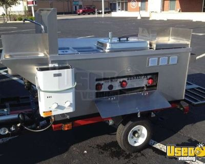 NEW 2021 4.5' x 6' Big Dawg Street Food Vending Concession Cart in Michigan for Sale!!