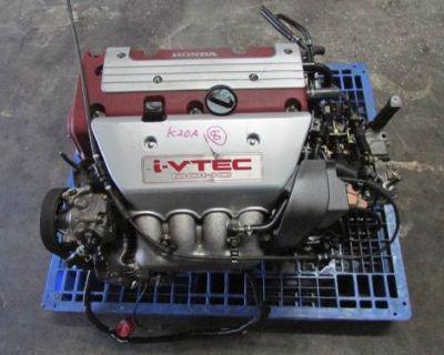 Jdm 02-04 Honda Integtra Type R Dohc Vtec K20a Engine Y2m3 6 Speed Manual Trans.