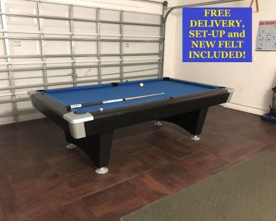 Brunswick 8' Pool Table-FREE DELIVERY, SET-UP and NEW FELT INCLUDED!