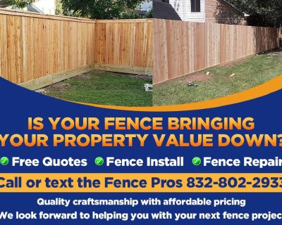 New Wood Fence Install, Gates and Repairs by The Fence Pros