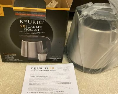 Keurig 2.0 Thermal Carafe 32oz Double-Walled, Vacuum-Insulated, Holds and Dispenses Upto 4 Cups of Hot Coffee, Compatible With Keurig 2.0 K-