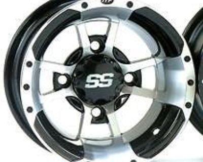 Itp Ss112 Rims Wheels Honda Trx250r Set 4 Front Rear Machined / Black